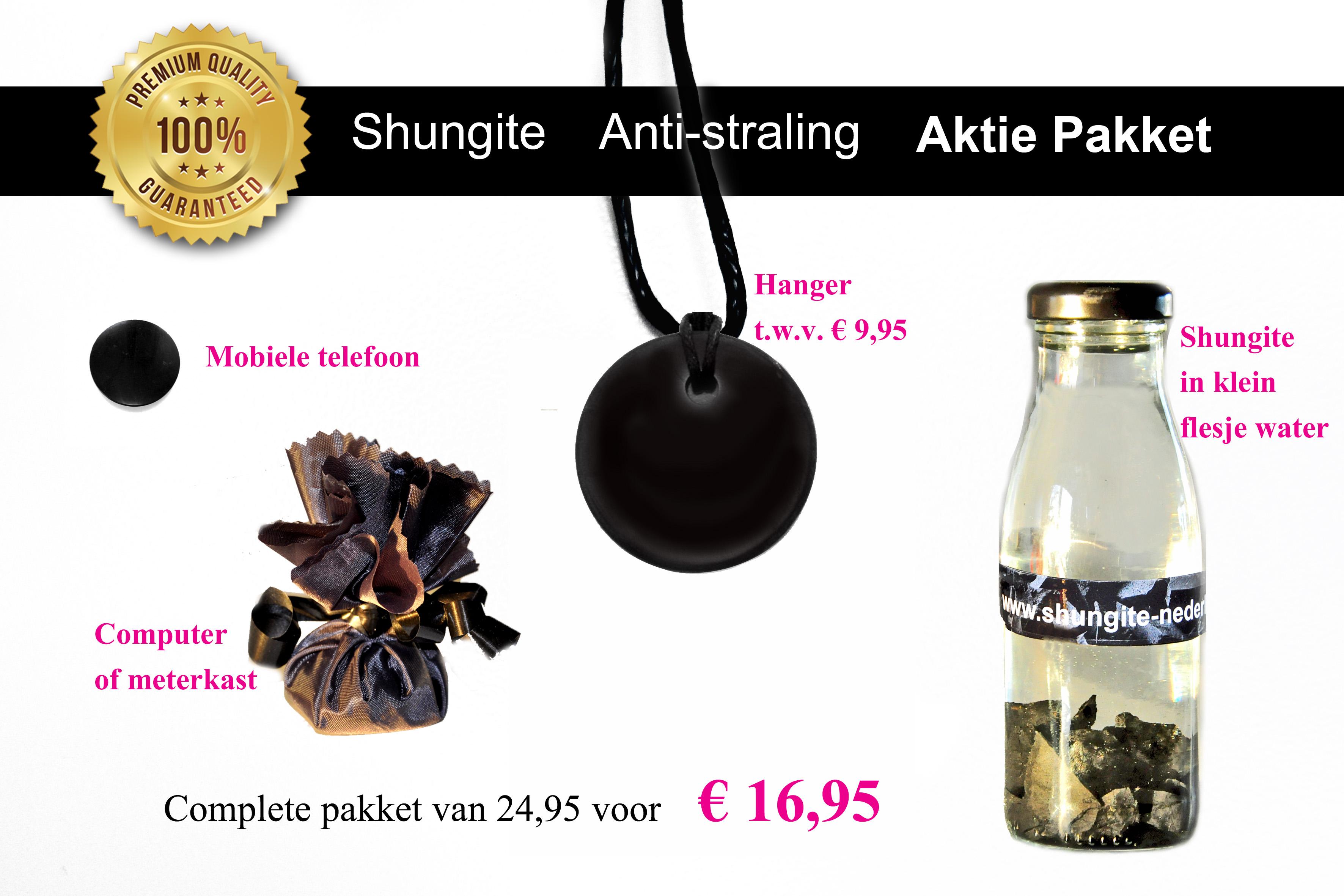 Shungite Anti straling aktie pakket