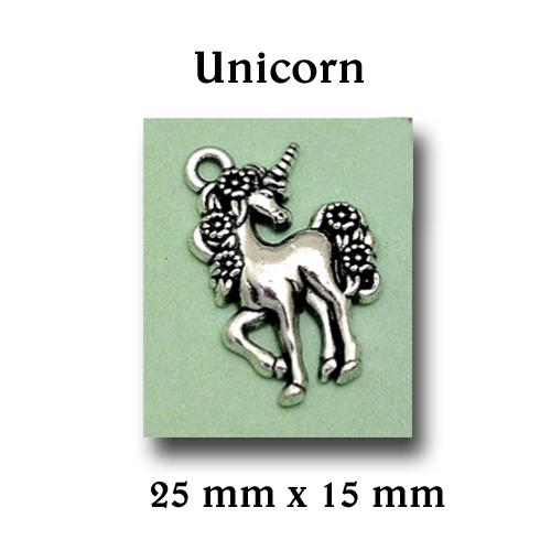 Unicorn bedeltje voor aan een armbandje of enkelbandje. Leuk cadeautje! www.shungite-nederland.nl