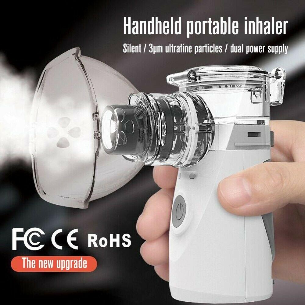 Essentiele olie inhalator - astma inhalator - medicijn vernevelaar - meer lucht - stoom inhalator www.shungite-nederland.nl