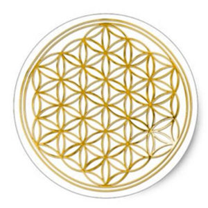 Flower of Life sticker - Shungite Nederland