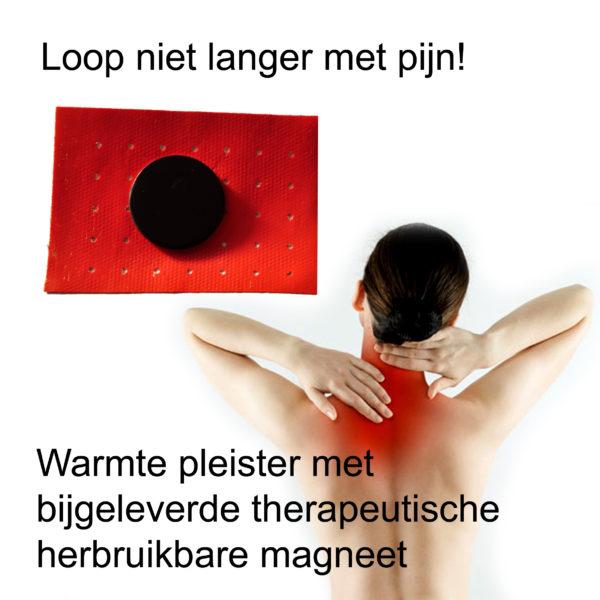 Magneeet therapie met warmte pleister - bij spierpijn www.shungite-nederland.nl