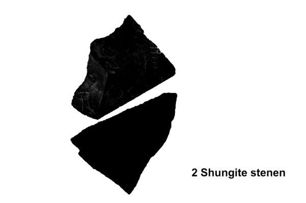 Twee Shungite stenen Waterfilter # Anti-straling