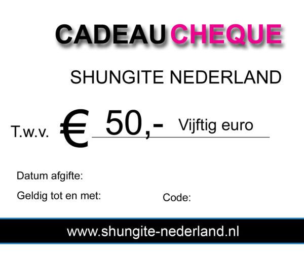 50 euro cadeau cheque