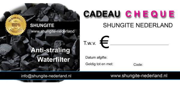 Cadeau Cheque - Shungite Nederland