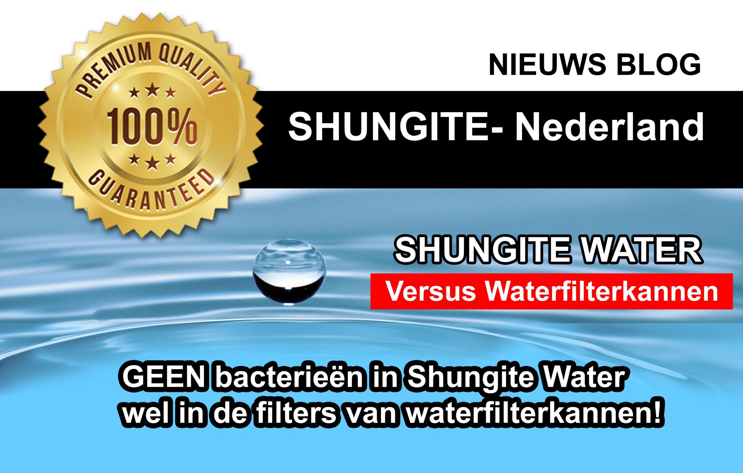 Waterfilterkan VS Shungite water